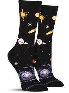 You don't need a telescope to view these planets. Shoot for the stars while staying grounded with these unique celestial socks from Wheel House. With everything from the sun to the moon, don't let Silly Socks, Funky Socks, Crazy Socks, Cute Socks, My Socks, Happy Socks, Patterned Socks, Novelty Socks, Designer Socks