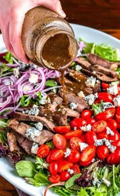 Steak Salad with Balsamic Dressing - New Vitality