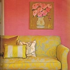 Stylish rooms featuring two of the happiest colors. Found on First Home and Decor Pad.