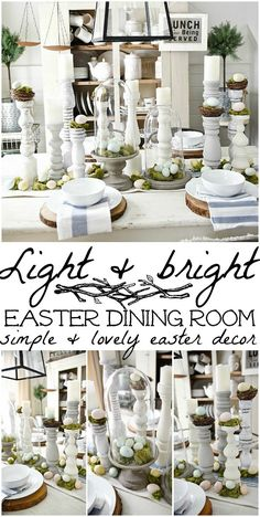 Springy Moss & Egg Easter Table