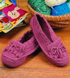 You'll have a soft spot for this slipper pattern--it has some cushioning built right in!