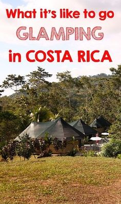 Our experience going glamping in Costa Rica! Stay close to nature without sacrificing comfort and style. Click through to read more about it mytanfeet.com/...