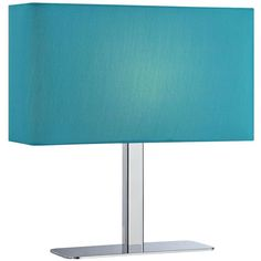 Lite Source Levon Teal Blue Shade Rectangular Table Lamp ($85) ❤ liked on Polyvore featuring home, lighting, table lamps, blue, blue lights, rectangular shade, rectangular shades, teal blue lamps and rectangular lamps