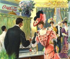 "Vintage Coke ad ""After the Theater"" - 1907!"
