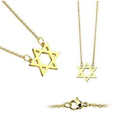 Star of david pendant 316 l stainless steel chain necklace  necklaces 4