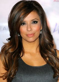 brunette-hairstyles-with-highlights-and-bangs