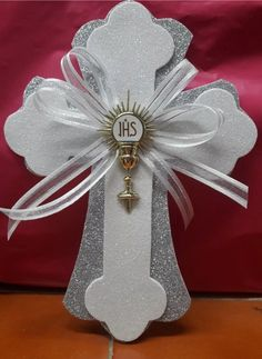 Best 12 Details about Cross centerpieces/ Pink and Gold Cross/ Baptism centerpieces stick/cross Christening Centerpieces, Communion Centerpieces, First Communion Decorations, First Communion Favors, Première Communion, Baptism Decorations, First Communion Dresses, First Holy Communion, Baptism Party