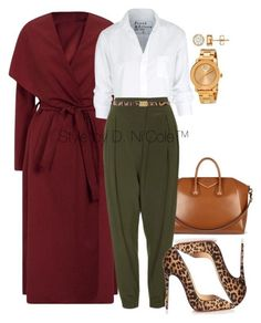 Untitled #3032 by stylebydnicole on Polyvore featuring polyvore fashion style Frank & Eileen Topshop Christian Louboutin Movado Dolce&Gabbana Givenchy
