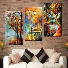 Framed Large Hand painted Abstract Modern Wall Painting Rain Tree Road Palette K. - Shelby Garloch - - Framed Large Hand painted Abstract Modern Wall Painting Rain Tree Road Palette K. Oil Painting Pictures, Canvas Pictures, Pictures To Paint, Rain Painting, Oil Painting On Canvas, Painting Trees, Art Paintings, Portrait Paintings, Canvas Wall Paintings