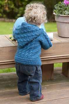 Ravelry: Hooded Cable Sweater pattern by Agnes Russell (fingering weight) Baby Boy Sweater, Knit Baby Sweaters, Cable Sweater, Boys Sweaters, Crochet Toddler, Crochet Baby Clothes, Crochet For Boys, Free Crochet, Ravelry Crochet