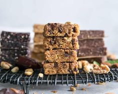 Homemade Protein Bars - 4 ways! Same base recipe – change up your mix-ins. These are like copycat homemade RXBARS and the flavors are spot on! So easy to make at home. Paleo friendly and no added sugar recipes. Protein Muffins, Protein Cookies, Protein Cake, High Protein Snacks, Paleo Protein Bars, Protein Bar Recipes, How To Make Homemade, Food To Make, Fit Mitten Kitchen