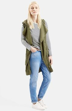 Topshop+Sleeveless+Hooded+Parka+available+at+#Nordstrom