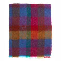 The Wool Company Mohair Throw Guava Check Mohair Blanket, Mohair Throw, Wooly Bully, Shearing, Angora Goat, Rugs, Ireland, Feels, Smooth