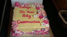 Holy Communion Cake Holy Communion Cakes, Holi, Desserts, Tailgate Desserts, Dessert, Deserts, Food Deserts, Postres