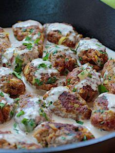 Israeli Meatballs Simmered in Tehina