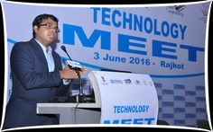 Mr. Venkat Mohan Production Technology Manager from Fraunhofer India making a presentation on technology upgradation
