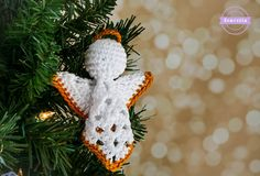 Granny Square Angel Ornament   Christmas Traditions CAL
