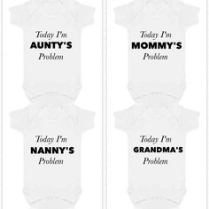 www.etsy.com/shop/babygrowstreet You can have any family member mummy daddy godmother nanny I can print anything for you. I offer a free design service also