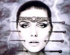 HR Giger, H.R. Giger, Alien, Aliens, Oliver Stone, fantastic realism, art, illustration, dark art, detail, films, movie art, fantasy realism, Debbie Harry by Giger - HeadStuff.org
