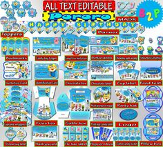 PORORO Birthday Party Decorations Editable by BirthdayPartyStudio