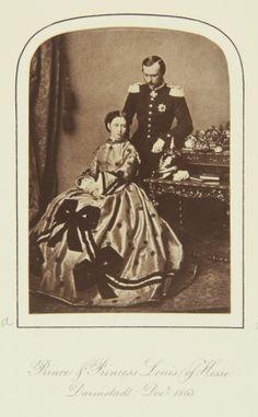 Dec 1863, Darmstadt; Alice and Louis