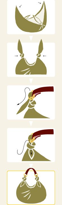 Furoshiki met extra riem