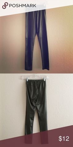 1 DAY SALE🔷Shiny Leggings Shiny army green leggings with center front and knee seams. Pants Leggings
