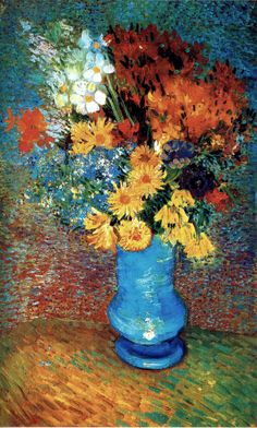 Vase with Daisies and Anemones / Vincent Van Gogh