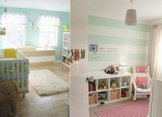 Baby Zimmer einrichten- grün Streifen