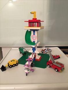 Sonntagsbeschäftigung für die ganze Familie. Lego Paw Patrol Tower #turm #torre #tour #rubble #skye #chase #marshall #zuma #rocky