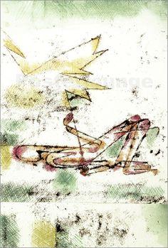 Paul Klee - Struck by Lightning, 1920
