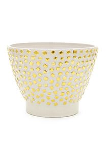 Kelly Wearstler HANDCRAFTED CERAMIC CONFETTI BOWL WITH 14K GOLD DETAILING