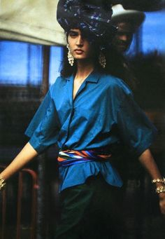 Magdorable! Les chemises de Kenzo, Claude Montana and Angelo Tarlazzi, model Gail Elliott, Marie Claire Bis Spring/Summer 1985