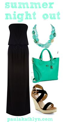 Summer night out fashion #maxi #seafoam  Time to get the bod ready for this:-)