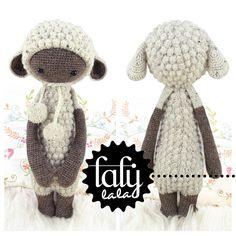 """Crochet Pattern Doll """"LUPO the lamb / sheep"""" van lalylala - handmade op DaWanda.com"""