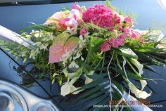 Στολισμοί αυτοκινήτων σε διάφορες εκκλησίες . ... Στολισμός αυτοκινήτου με Ορτανσία,ζέρμπερες,λυσίανθο,τριαντάφυλλα Rustic Wedding, Plants, Plant, Planets