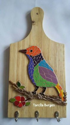 Pajaros Mosaic Tray, Mosaic Tile Art, Mosaic Artwork, Mosaic Glass, Mosaic Animals, Mosaic Birds, Mosaic Art Projects, Mosaic Crafts, Mosaic Designs