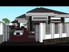 Rumah Tinggal Pesanan Bpk. Dadang Bandung (Info Jasa Desain, WA : 0817 9907 234) - YouTube House Plans Mansion, Bungalow House Plans, Bungalow House Design, Asian House, My Dream Home, New Homes, Construction, Exterior, Mansions