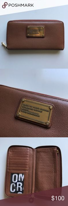Marc by Marc Jacobs Brown Zip Wallet Great condition. Biggest flaw is wear on front logo hardware. Open to offers! Marc By Marc Jacobs Bags Wallets