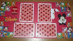 Disney Mickey Friends Premade Layout Scrapbook Page | eBay