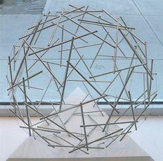 Ninety Strut Tensegrity by Buckminster Fuller