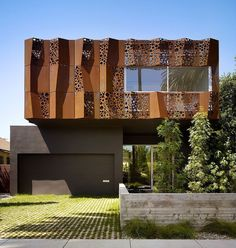 Acero / pliegues / perforaciones / corten...  Walnut Residence by Modal Design
