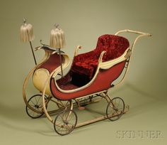 Victorian Child's Sleigh/Carriage, America, signed G. Snyder, c. 1890