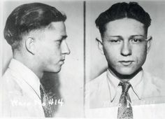 """Clyde Chestnut Barrow's mugshot. He and his partner Bonnie Parker captured the attention of the American public during the """"public enemy era"""" between 1931 and 1934. The couple themselves were eventually ambushed and killed in Louisiana by law officers."""