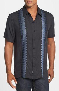 Nat Nast 'Casablanca' Regular Fit Short Sleeve Silk Sport Shirt available at #Nordstrom