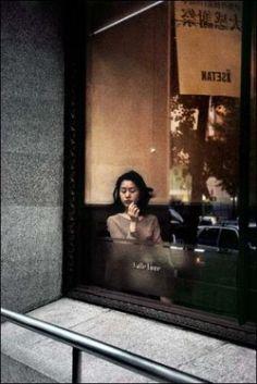 by Harry Gruyaert, Coffee shop in Shinjuku district, Japan, Tokyo, 1996 Urban Photography, Color Photography, Street Photography, Poetry Photography, Narrative Photography, Coffee Photography, Candid Photography, Documentary Photography, People Photography