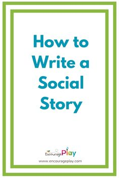 Social Stories are a great tool to help kids manage difficult or confusing  situations. It's a way to give information about those situations,  including what is expected or what might happen in a simple, supportive and  reassuring way. Carol Gray initially defined and refined the process of  cr