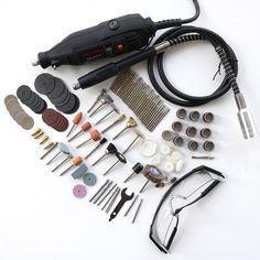 Accesorios de las Herramientas Eléctricas de Mini Taladro Rotativo de Herramientas con 106 unids brocas de corte discos de papel de lija de eje flexible