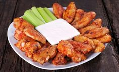 Spicy Buffalo Wings… Just before serving, pour remaining sauce over wings, broil for one minute to crisp the skin.
