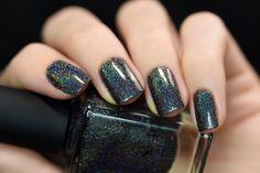ILNP Missed Calls - Black Holographic Nail Polish